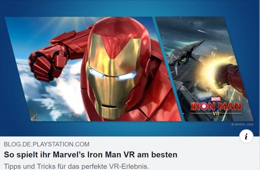 Tipps und Tricks zu Marvel's Iron Man VR - Ulrich Wimmeroth