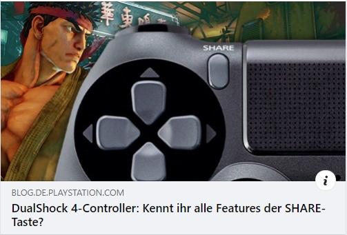 DualShock 4-Controller: Kennt ihr alle Features der SHARE-Taste?