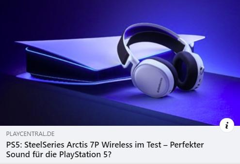 SteelSeries Arctis 7P Wireless für PS4 und PS5 - Test