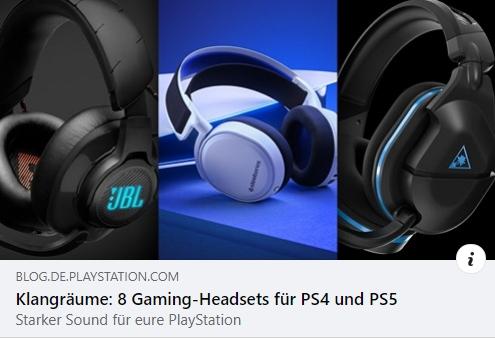 Gaming Headsets für PS4 und PS5