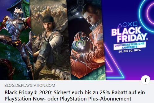 Black Friday 2020 - Die besten PlayStation NOW Spiele