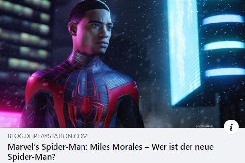 Marvel's Spider-Man: Miles Morales - Der Mann hinter der Maske