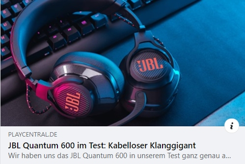 Test: Gaming-Headset JBL Quantum 600