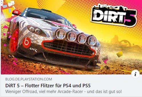DiRT 5 - Flotter Flitzer für PS4 und PS5