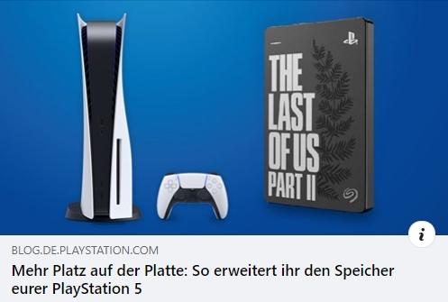 PlayStation 5: Mehr Platz auf der Platte