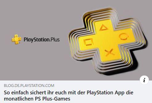 PlayStation App - So sichert ihr euch die monatlichen PS Plus-Games