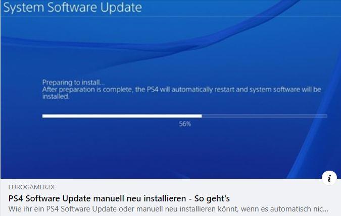 PS4 - Software Update manuell neu installieren - So geht's
