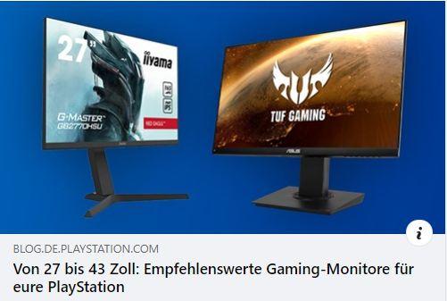Gaming-Monitore von 27 bis 43 Zoll