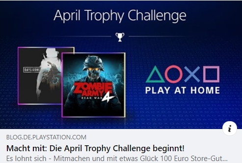 PS Plus - Die April Trophy Challenge beginnt!