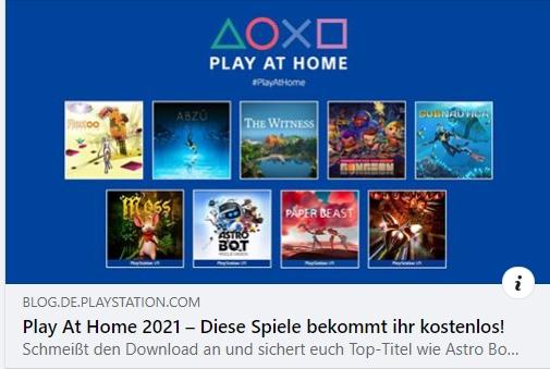 Play At Home 2021 – Diese Spiele bekommt ihr kostenlos!