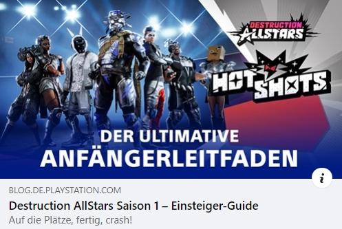 Destruction AllStars Einsteiger-Guide