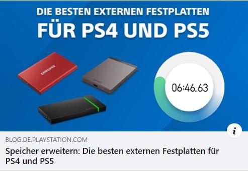 Externe Festplatten für PS4 und PS5