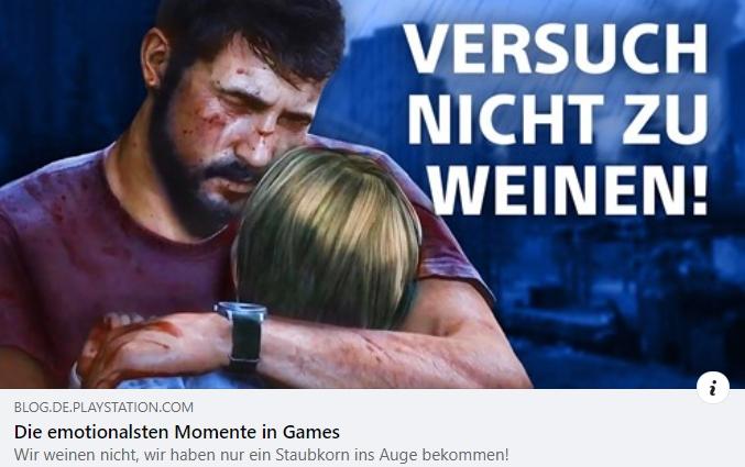 Die emotionalsten Momente in Games