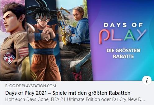 Days of Play 2021 – Spiele mit den größten Rabatten