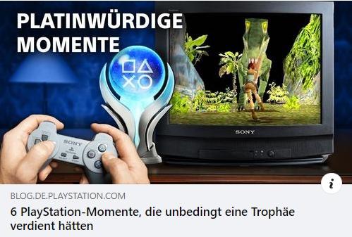 Playstation - Platinwürdige Momente