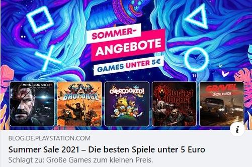 Summer Sale 2021 - Die besten Spiele unter 5 Euro