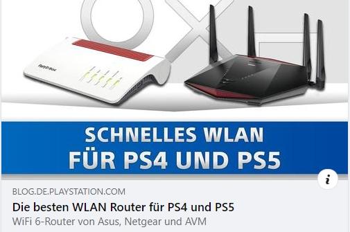 WiFi 6 Router für PS4 und PS5