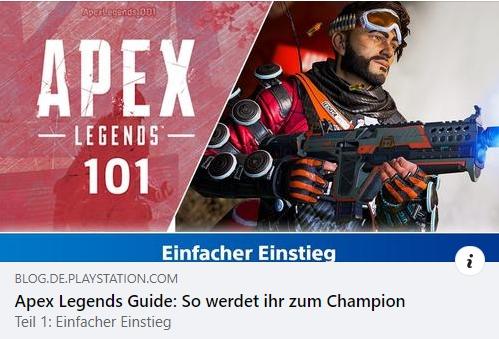 Apex Legends 101 - Teil1: Einfacher Einstieg
