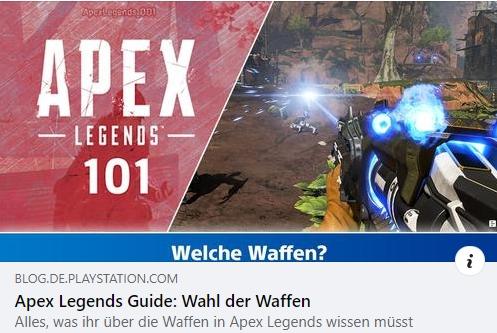 Apex Legends 101 - Teil 3: Waffen