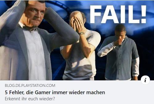 Fehler, die Gamer immer wieder machen
