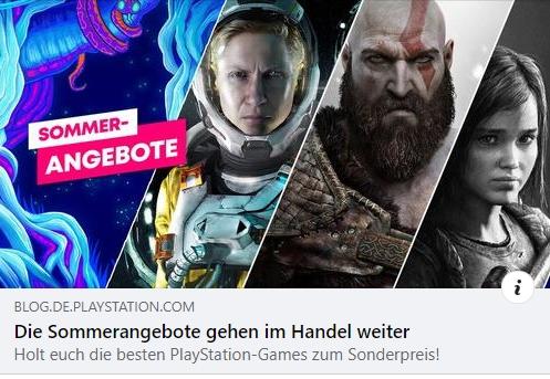PlayStation Sommerangebote 2021