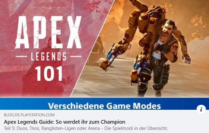 Apex Legends 101 - Teil 5:  Spielmodi
