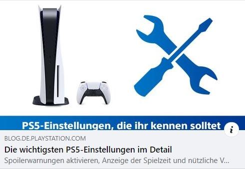 PS5 Einstellungen