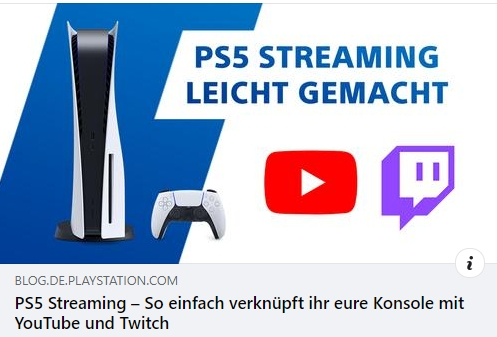 PS5 Livestreaming